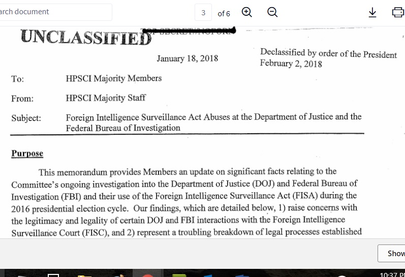 The 'Memo' - House Intelligence Committee Report On FISA Abuses